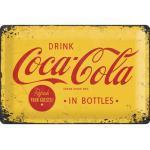 Blechschild Coca Cola Logo Yellow 20x30 cm