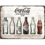 Blechschild Coca-Cola Timeline 30x40 cm