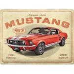 Blechschild Ford Mustang - GT 1967 Red (Nostalgic-Art: 23298)