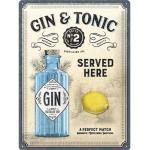 Blechschild Gin & Tonic 30x40 cm