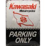 Blechschild Kawasaki Logo Maße: 30x40cm