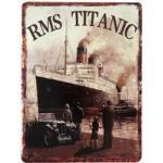 Blechschild R.M.S. TITANIC 1912 Vintage Dekoschild Nostalgie Antik-Stil 40x30cm