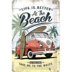 Blechschild VW Bulli Beach 20x30 cm