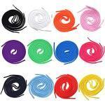BLESS 24 Stück Farbige Schnürsenkel, Farbige Runde Schnürsenkel, Farbige Schnür-Senkel Rund, für Turnschuhe, Skateschuhe, Stiefel, Lauftrainingsschuhe, Sportschnürsenkel (12 Farben)