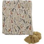 Bloomingville Überwurf Decke Filipa recycelte Baumwolle 160x130 cm gelb