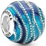 Blue Swirls Bead Sterlingsilber