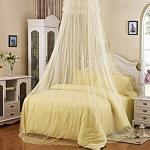 Bluelans® Baldachin Moskitonetz Insektenschutz Fliegennetz Mückennetz für Doppelbetten und Einzelbetten (Beige)