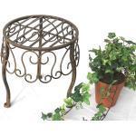 Blumenhocker 140129 S Blumenständer 25 cm Pflanzenständer Hocker Beistelltisch T (14012925)