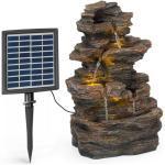 blumfeldt Wasserspiel »Messina Kaskadenbrunnen Solarbrunnen Gartenbrunnen 4 Stufen Akkubetrieb 2,8W Solarpanel LED«, 30 cm Breite
