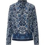 Bluse Stehkragen Windsor blau