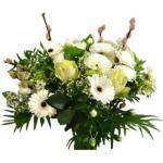 Weiße Blumensträuße