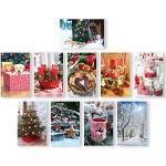 Böttcher-AG Weihnachtskarte Fotomotive sortiert, 115 x 175mm, Klappkarte, mit Umschlag, 50 Stück