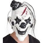 BOLAND 97507 - Latex-Maske Psycho Clown, Kopfmaske mit Haaren, Horrorclown, Kostüm, Karneval, Mottoparty, Halloween