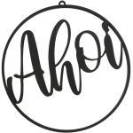 BOLTZE Metallschild »Dekohänger AHOI schwarz aus Eisen rundes Metallschild maritime Deko (Motiv 1)«