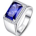 Silberne Saphir Ringe für Herren