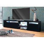 borchardt Möbel Lowboard, Breite 200 cm schwarz Lowboard