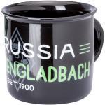 Borussia M'Gladbach BMG Tasse Emaille schwarz, STCK