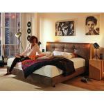 Braune Vintage Now! by Hülsta Betten 160x200 mit Härtegrad 2