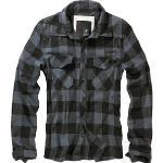 Graue Brandit Check Hemden Übergrößen