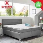 Silberne Moderne Breckle Betten Taschenfederkern mit Härtegrad 2