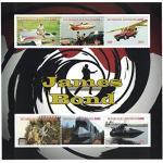 Briefmarken für Sammler–James Bond perforiert Stempel Blatt mit James Bond/Transport/Zentralafrikanische Republik