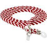 Brillenband rot/weiß weiß