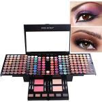 BrilliantDay 180 Farben Lidschatten Palette Contouring Kit Kombination mit Blusher und Press Powder, Kosmetik Make Up Kit Set Box