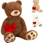 BRUBAKER Kuscheltier »XXL Teddybär 100 cm groß mit Herz Best Mum« (1-St), Stofftier Plüschtier, braun, Braun