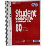 Brunnen Collegeblock Student 80 10-67 952, A5 kariert, 70g 80 Blatt, 6-fach-Lochung