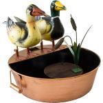 Brunnen Enten-Paar, Metall, Wasserspeier
