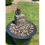 Brunnenkomplett-Set Wasserspeiend mit Bronze Froschkönig
