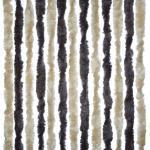 Brunner Chenille Flauschvorhang, 56x175cm, braun/beige, ideal für Caravans
