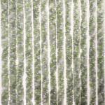 Brunner Chenille Flauschvorhang, 56x175cm, grau/grün/weiß, ideal für Caravans
