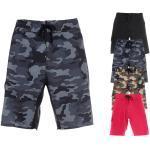 Schwarze Stretch-Shorts für Herren