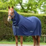 Bucas Power Cooler Full Neck - navy/silver - Abschwitzdecke - Stalldecke
