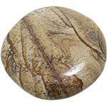 budawi® - Handschmeichler Landschaftsjaspis flach, ca. Ø 37 mm Free-Form, Edelstein Landschaftsjaspis Seifenstein
