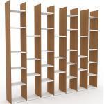Bücherregal Eiche, Holz - Modernes Regal für Bücher: Hochwertige Qualität, einzigartiges Design - 272 x 233 x 35 cm, konfigurierbar