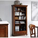 Bücherregal in Braun Fichte Massivholz