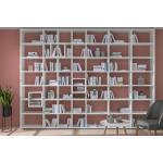 Bücherwand konfigurierbar 6x6 BOON Mix | 281x218x33 cm (LxHxT) | weiß