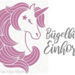Bügelbild Einhorn/Unicorn Zum Einfachen Aufbügeln Auf Dein Shirt Flexfolie Bügelfolie Ca. 15x19cm