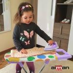 Bügelbrett Kinder Bügeleisen Kinderbügelbrett Wäscheständer Haushalt Spielzeug