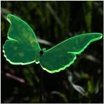 Bütic GmbH Acrylglas Sonnenfänger Schmetterling 14cm neon transparent fluoreszierend, Farbe:Neonorange