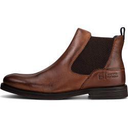 bugatti Denim Chelsea-Boots mittelbraun Herren