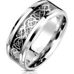 BUNGSA Fingerring »Ring keltisches Tribal Silber aus Edelstahl Unisex« (inkl. Schmuckbeutel aus Organza), Damen Herren Verlobung Ehering Valentinstag