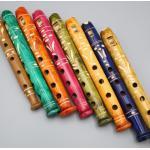 Buntbemalte Flöten Aus Holz