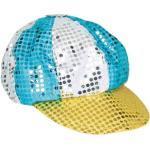 Bunte Pailetten Disco-Mütze