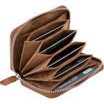Burkley Mini Geldbörse »AMADORA Leder Geldbörse Kreditkartenetui 7 Fächer« (7 Kartenfächer, auch für Geldnoten geeignet,mit sicherem Reißverschluss)