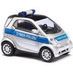 BUSCH 46149 1:87 Smart Fortwo Facelift, Cyber-Polizei