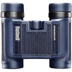 Bushnell 138005 H2O Fernglas (8x25 mm, Inkl. Tasche und Trageriemen, Wasserdicht und vielseitig einsetzbar, Rutschfestes gummiarmiertes Gehäuse, Dachkant-Prismen, Aus hochwertigem BaK-4 Prismenglas)