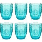 BUTLERS Glas »VICTORIAN 6x Trinkglas 250ml«, Glas, Türkis